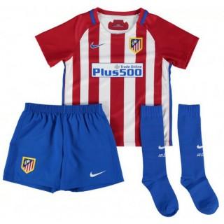 Ensemble Atletico Madrid Enfant 2016/2017 Maillot Short Chaussettes Domicile Personnalisé