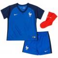 Magasin Ensemble Equipe de France Bébé 2016/2017 EURO 2016 Maillot Short Chaussettes Domicile Paris