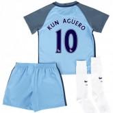 Achetez Ensemble Manchester City Enfant AGUERO 2016/2017 Maillot Short Chaussettes Domicile