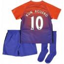 Vente Privée Ensemble Manchester City Enfant AGUERO 2016/2017 Maillot Short Chaussettes Third