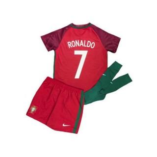 Acheter Nouveau Ensemble Portugal Enfant RONALDO 2016/2017 EURO 2016 Maillot Short Chaussettes Domicile En Ligne
