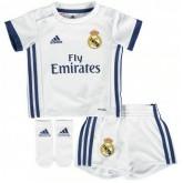Ensemble Real Madrid Bébé 2016/2017 Maillot Short Chaussettes Domicile En Soldes