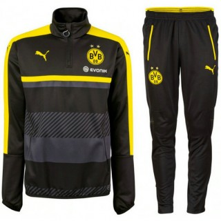 Survetement Dortmund 2016/2017 Sweat Noir Vente En Ligne