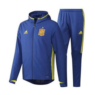 Survetement Espagne 2016/2017 Euro 2016 Capuche Bleu Pas Chère