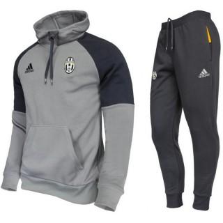 Survetement Juventus 2016/2017 Capuche Sweat Gris au Meilleur Prix