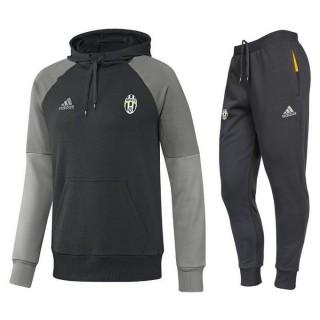 Survetement Juventus 2016/2017 Capuche Sweat Noir Promos