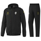 Survetement Juventus Ligue Des Champions 2016/2017 Capuche Noir Magasin De Sortie