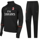 Survetement Milan Ac 2016/2017 Training Noir Sponsors PasCher Fr