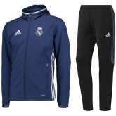 Promotions Survetement Real Madrid 2016/2017 Capuche Bleu