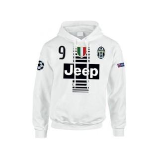 Sweat a Capuche Juventus HIGUAIN 2016/2017 Remise Paris en ligne