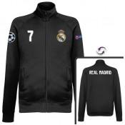 Soldes Veste Real Madrid Ronaldo 2016/2017 Noir Destockage