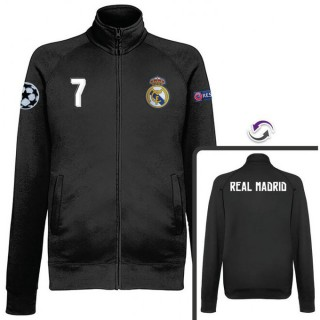 Soldes Veste Real Madrid Ronaldo 2016/2017 Noir Destockage