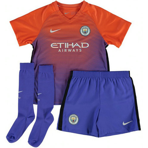 Ensemble Manchester City Enfant 2016/2017 Maillot Short Chaussettes Third