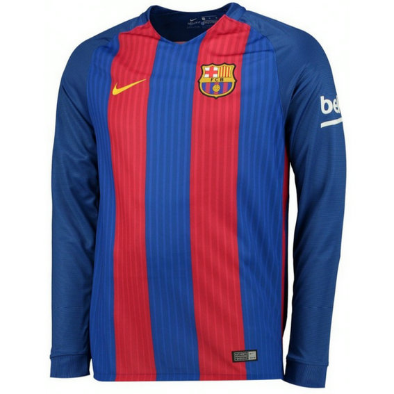 Maillot Barcelone 2016/2017 Domicile Manches Longues