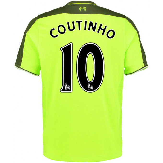 Maillot Liverpool Enfant COUTINHO 2016/2017 Third