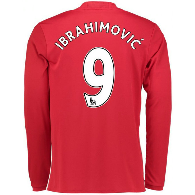 Maillot Manchester United Enfant IBRAHIMOVIC 2016/2017 Domicile Manches Longues