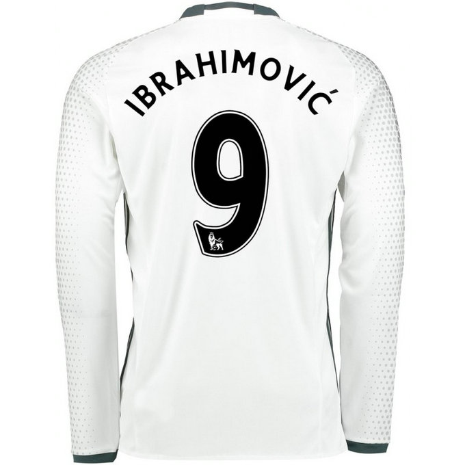 Maillot Manchester United IBRAHIMOVIC 2016/2017 2016/2017 Third Manches Longues
