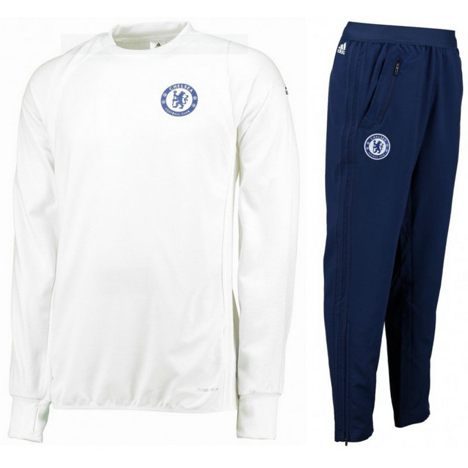 Survetement Chelsea 2016/2017 Blanc Destockage