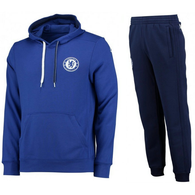 Survetement Chelsea 2016/2017 Capuche Bleu