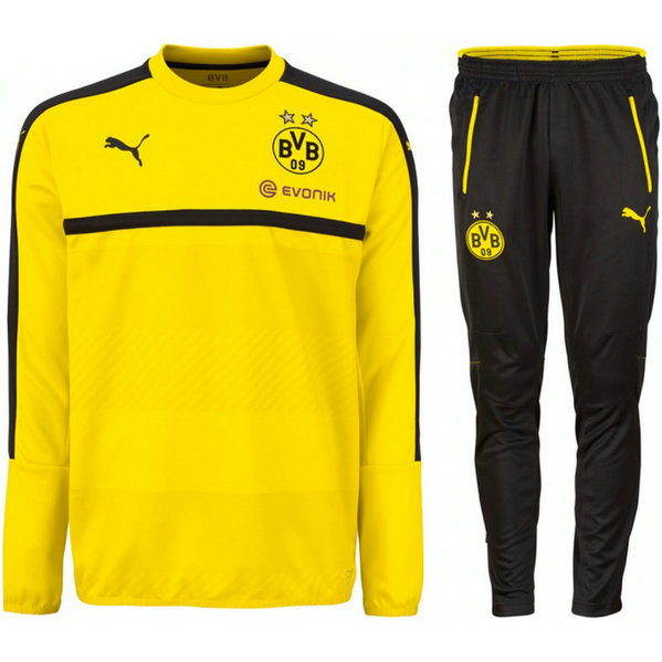 Survetement Dortmund 2016/2017 Sweat Jaune 2
