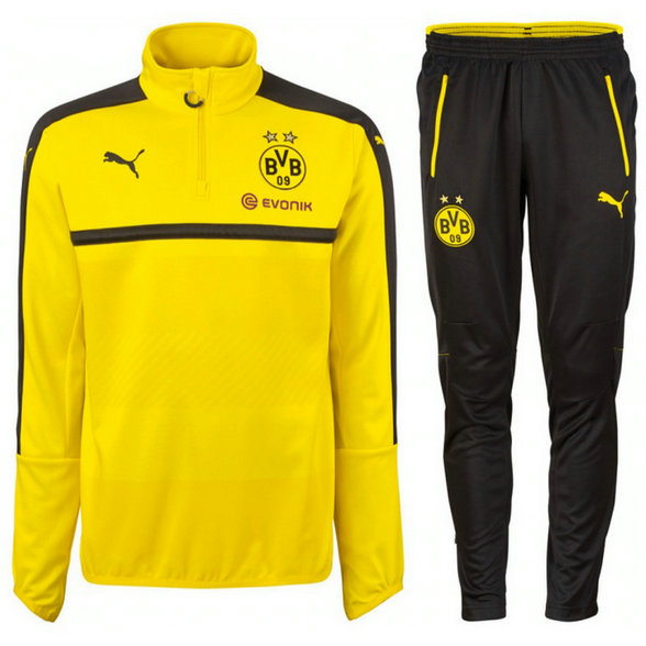 Survetement Dortmund Enfant 2016/2017 Sweat Jaune