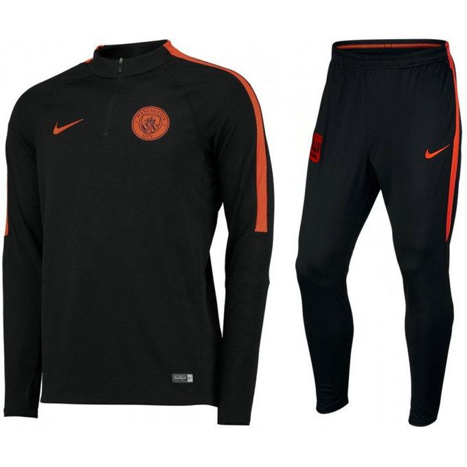 Survetement Manchester City 2016/2017 Strike Noir Orange