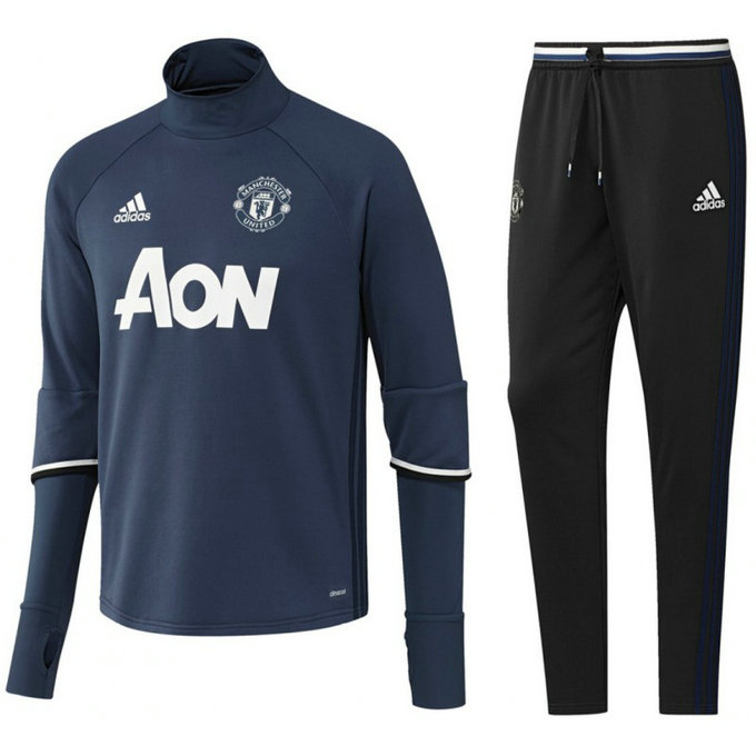 Survetement Manchester United 2016/2017 Bleu