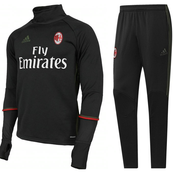 Survetement Milan Ac 2016/2017 Training Noir Sponsors