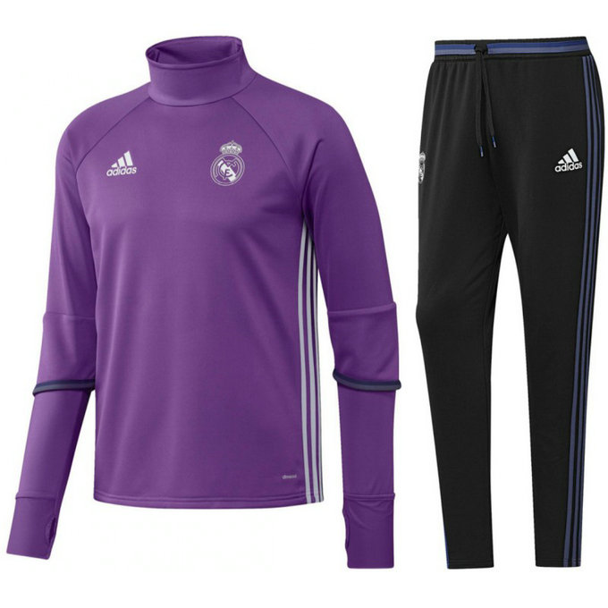 Survetement Real Madrid Enfant 2016/2017 Training Mauve