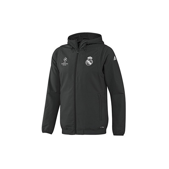 Veste Real Madrid Ligue Des Champions 2016/2017 Capuche Destockage