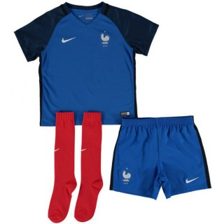 Ensemble Equipe de France Enfant 2016/2017 EURO 2016 Maillot Short Chaussettes Domicile Site Officiel