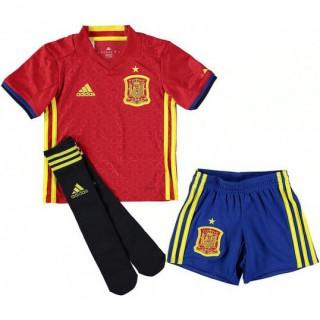 Acheter Nouveau Ensemble Espagne Enfant 2016/2017 EURO 2016 Maillot Short Chaussettes Domicile En Ligne