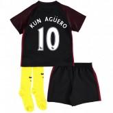 Ensemble Manchester City Enfant AGUERO 2016/2017 Maillot Short Chaussettes Extérieur Rabais