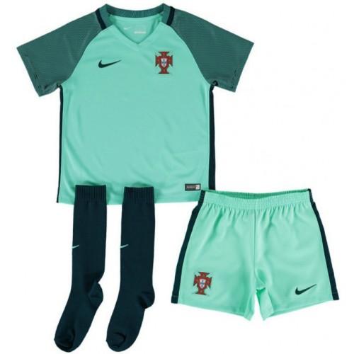 4f012885f26b7 Rabais Ensemble Portugal Enfant 2016/2017 EURO 2016 Maillot Short  Chaussettes Extérieur