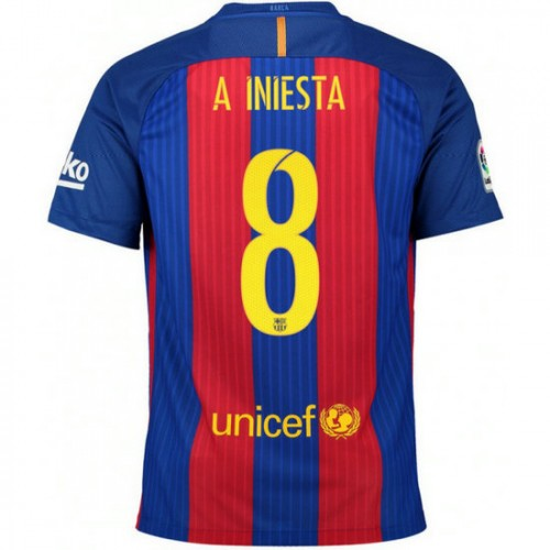 maillot barcelone enfant iniesta 2016 2017 domicile pas cher paris. Black Bedroom Furniture Sets. Home Design Ideas