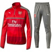 Survetement Arsenal 2016/2017 Rouge Gris Rabais