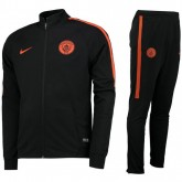 Vente Privee Survetement Manchester City 2016/2017 Noir Orange