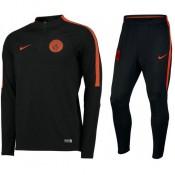 Survetement Manchester City 2016/2017 Strike Noir Orange Vendre Alsace