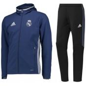 Promotions Survetement Real Madrid 2016/2017 Capuche Bleu
