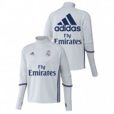 Survetement Real Madrid 2016/2017 Training Blanc Sponsors Paris